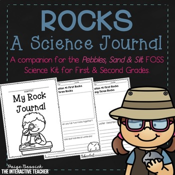 Rocks Science Journal- Pebbles, Sand & Silt FOSS Companion