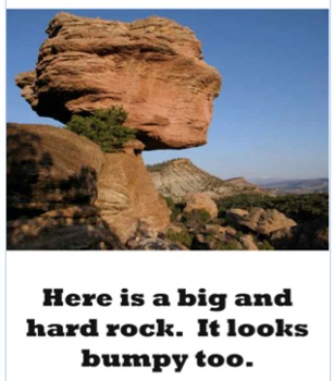 Rocks - An Emergent Science Reader - Kindergarten, First Grade, Second Grade