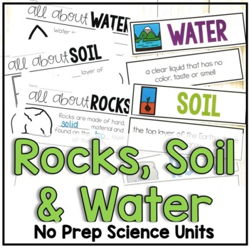 Rocks, Soil and Water