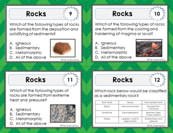 Rocks Task Cards