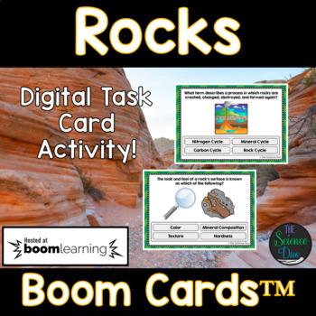Rocks Task Cards - Digital Boom Cards™