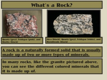Rocks: The 3 Types, How to Identify Them, Uses, & The Rock Cycle PPT