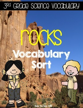 Rocks {Science Interactive Vocabulary Sort}
