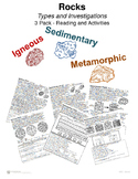 Rocks - Types and Investigations 3 pack II