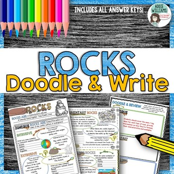 Rocks - Types of Rocks Doodle Notes / Graphic Organizer