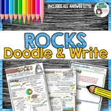 Rocks - Types of Rocks Doodle and Write Graphic Organizer