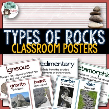 Types of Rocks Classroom Posters