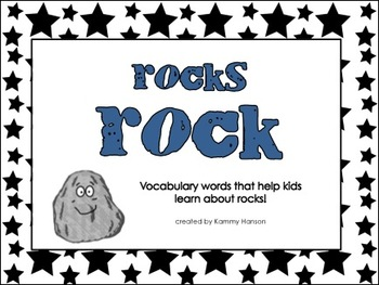 Rocks Rock! - Vocabulary Cards and Booklet