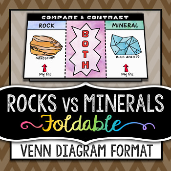 Rocks vs minerals venn diagram column foldable great for inbs ccuart Choice Image