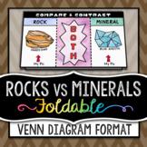 Rocks Vs Minerals - Venn Diagram Column Foldable - Great for INBs!