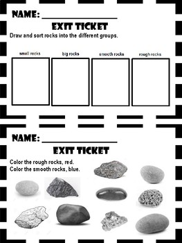Rocks, Water, and Natural Resources - Exit Tickets