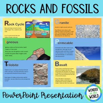 Rocks and Fossils A-Z
