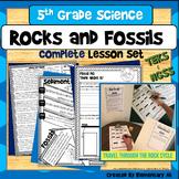 Rocks and Fossils Complete Lesson Set Bundle (NGSS & TEKS)