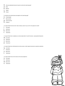 Rocks and Fossils Test/Study Guide