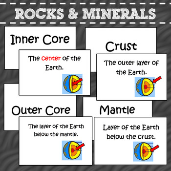 Rocks and Minerals Flash cards