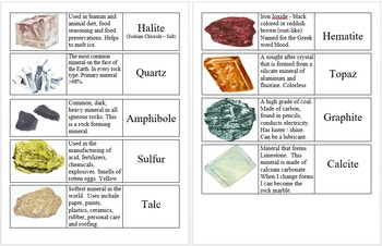 Rocks and Mineral Flashcards