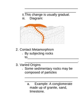 Regents Earth Science Rocks and Minerals Student Note Packet