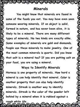 Science: Rocks and Minerals Unit