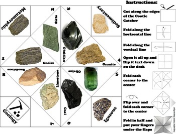 Types of Rocks and Minerals Unit (Geology Activity)