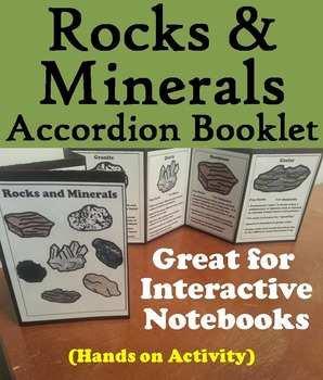 Types of Rocks and Minerals Foldable/ Activity: Earth Science Unit: Geology Unit