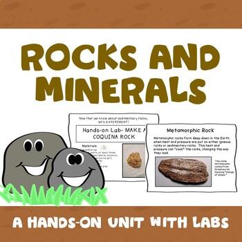 Rocks and Minerals : Sedimentary, Igneous, Metamorphic.  M