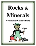ROCKS AND MINERALS VOCABULARY