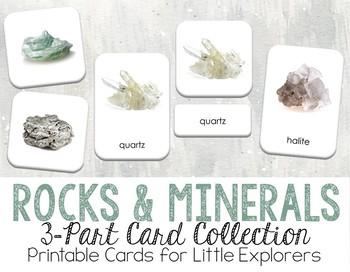 Rocks and Minerals 3-Part Montessori-Inspired Card Set
