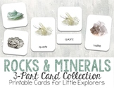 Rocks and Minerals 3-Part Montessori-Inspired Card Set