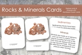 Rocks and Minerals 3-Part Nomenclature Cards- Montessori