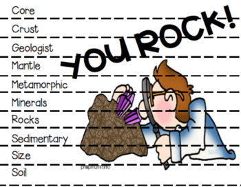 Rocks and Minerals ABC Order