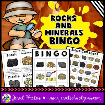 Rocks and Minerals Activities (Rocks and Minerals Bingo)