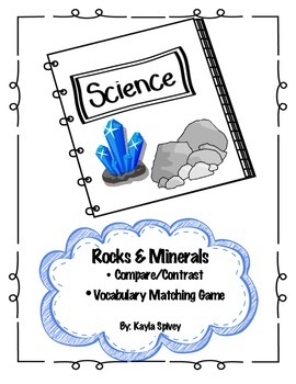 Rocks and Minerals Activity Pack