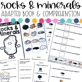 Rocks and Minerals Adapted Book & Comprehension for Special Education