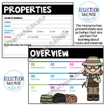 Science - Rocks and Minerals Anchor Charts and Word Wall