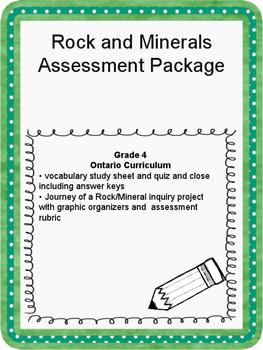 Rocks and Minerals Assessment Tasks