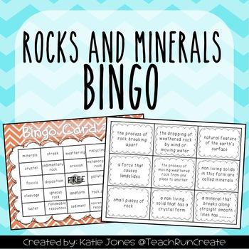Rocks and Minerals BINGO