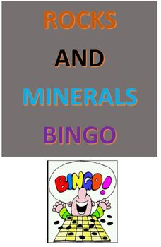 Rocks and Minerals Bingo