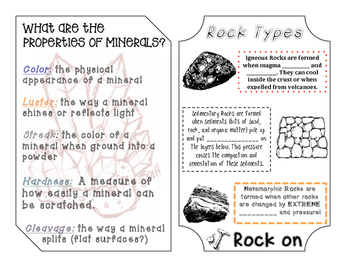Rocks and Minerals Booklet