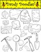 Rocks and Minerals Clip Art by Dandy Doodles