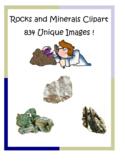 Rocks and Minerals Clip Art Pack – 834 unique PNG files