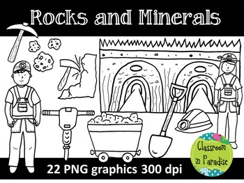 Rocks and Minerals Clipart Set