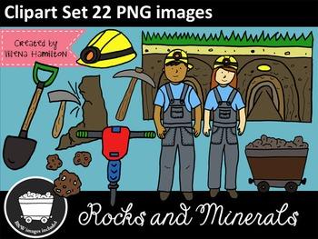 Rocks and Minerals Clipart Set