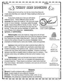 Rocks and Minerals Close Read Bundle