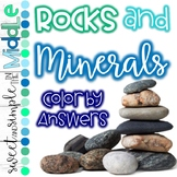 Rocks and Minerals Color By Answers Activity