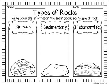 Rocks and Minerals: Craftivity and Printables