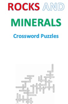 Rocks and Minerals Crosswords Puzzles