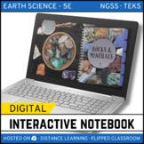 Rocks and Minerals DIGITAL NOTEBOOK - Google Classroom / D