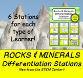 Rocks and Minerals Differentiation Stations