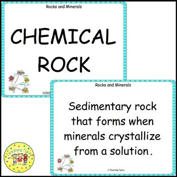 Rocks and Minerals Vocabulary Cards