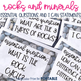 Rocks and Minerals Essential Questions and I Can Statements